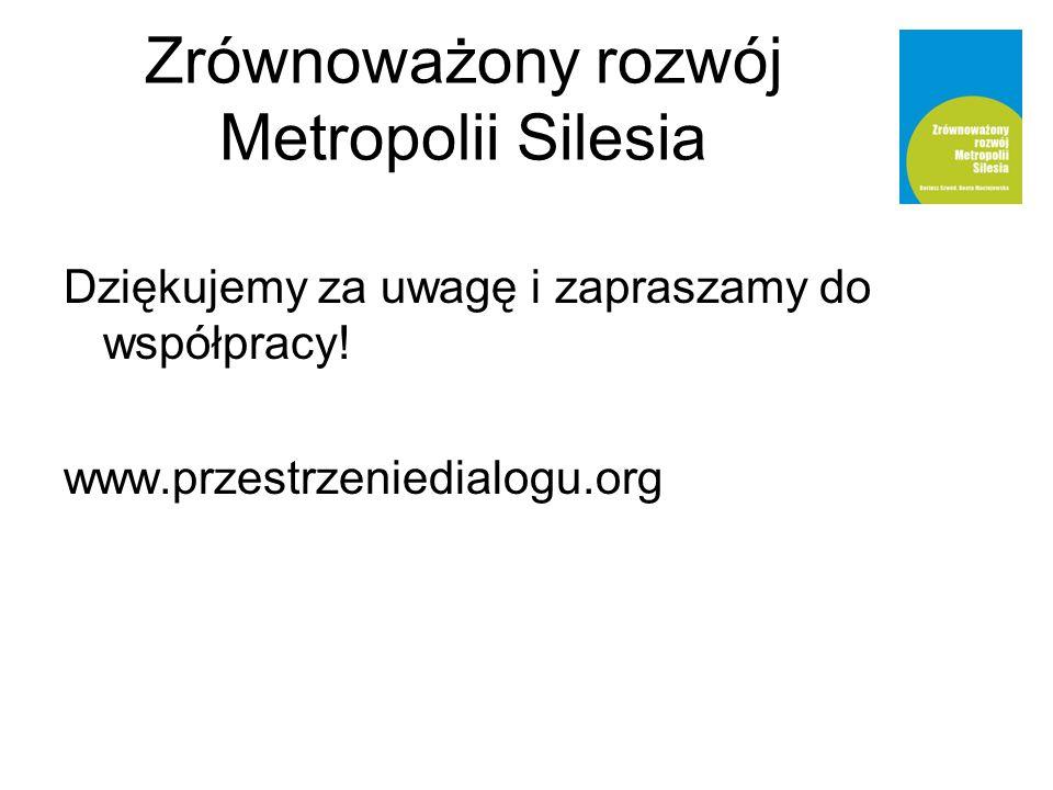 Zrównoważony rozwój Metropolii Silesia Dziękujemy za uwagę i zapraszamy do współpracy.