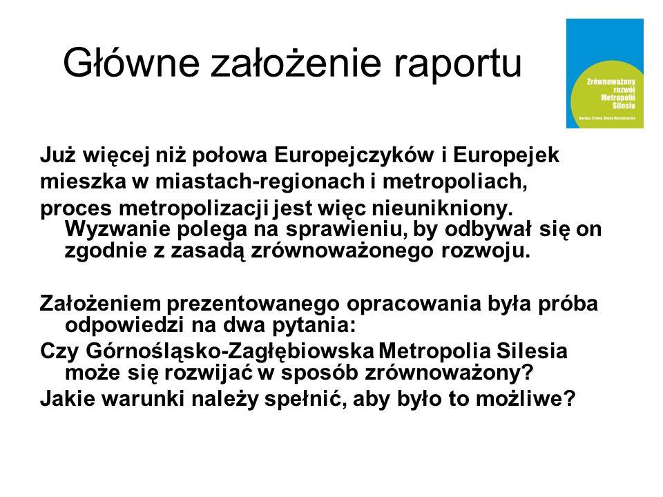 Demokracja energetyczna Metropolitalna zrównoważona polityka energetyczno-klimatyczna Pojemność środowiska, zgodność z Polityką Klimatyczną Polski, pakiet 3x20 Unii Europejskiej Oszczędzanie energii i podnoszenie efektywności energetycznej – produkcja negawatów Zeroenergetyczny wzrost gospodarczy, obniżanie poziomu energochłonności do poziomu UE-15 Przeciwdziałanie ubóstwu energetycznemu Wspieranie uniezależnienia się od wysokiego zużycia energii a nie dotowanie jej zużycia Odnawialne źródła energii Tworzenie zielonych miejsc pracy, rozwój badań i technologii Co w raporcie?