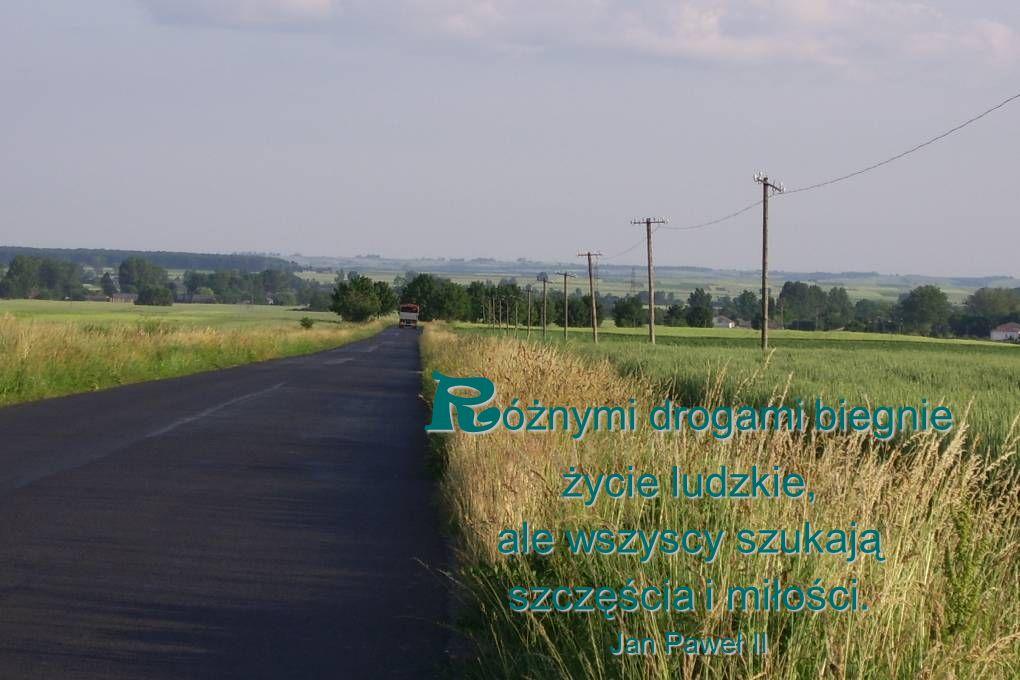 R óżnymi drogami biegnie życie ludzkie, ale wszyscy szukają szczęścia i miłości. Jan Paweł II