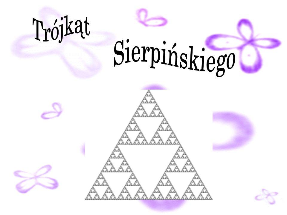 Trójkat Sierpinskiego Trójkąt Sierpińskiego (znany też jako uszczelka Sierpińskiego) – jeden z najprostszych fraktali. Znany był na długo przed powsta