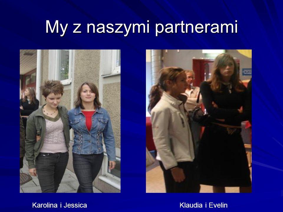 My z naszymi partnerami Karolina i Jessica Klaudia i Evelin