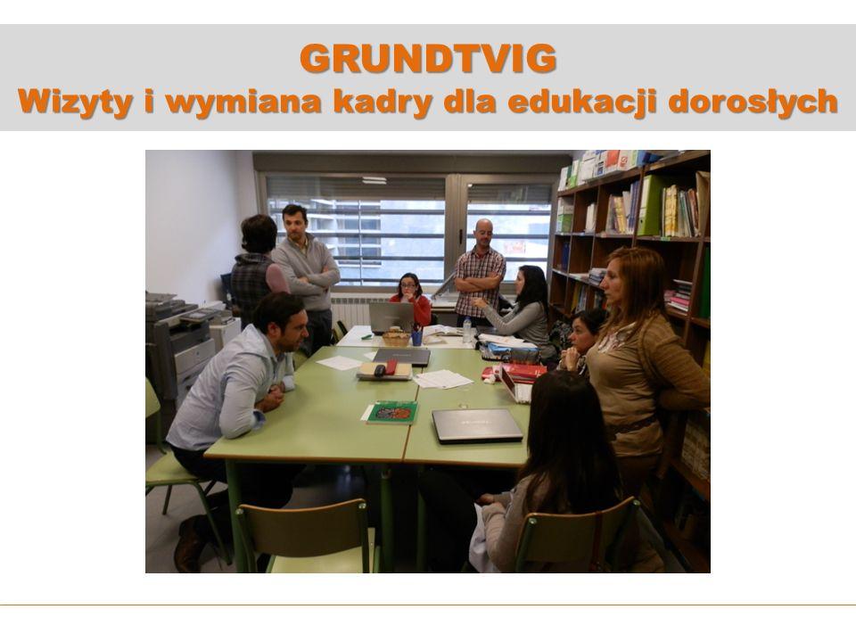 GRUNDTVIG Wizyty i wymiana kadry dla edukacji dorosłych