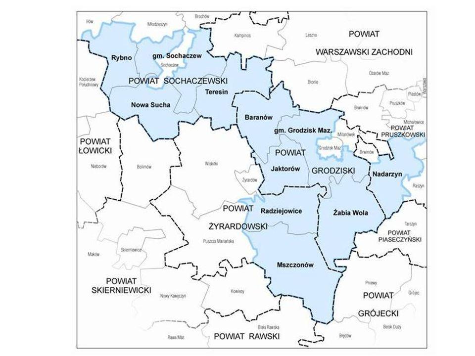 LGD Ziemia Chełmońskiego AD 2013 11 gmin 4 powiaty ponad 86 tys.