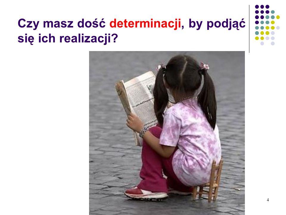 4 Czy masz dość determinacji, by podjąć się ich realizacji?