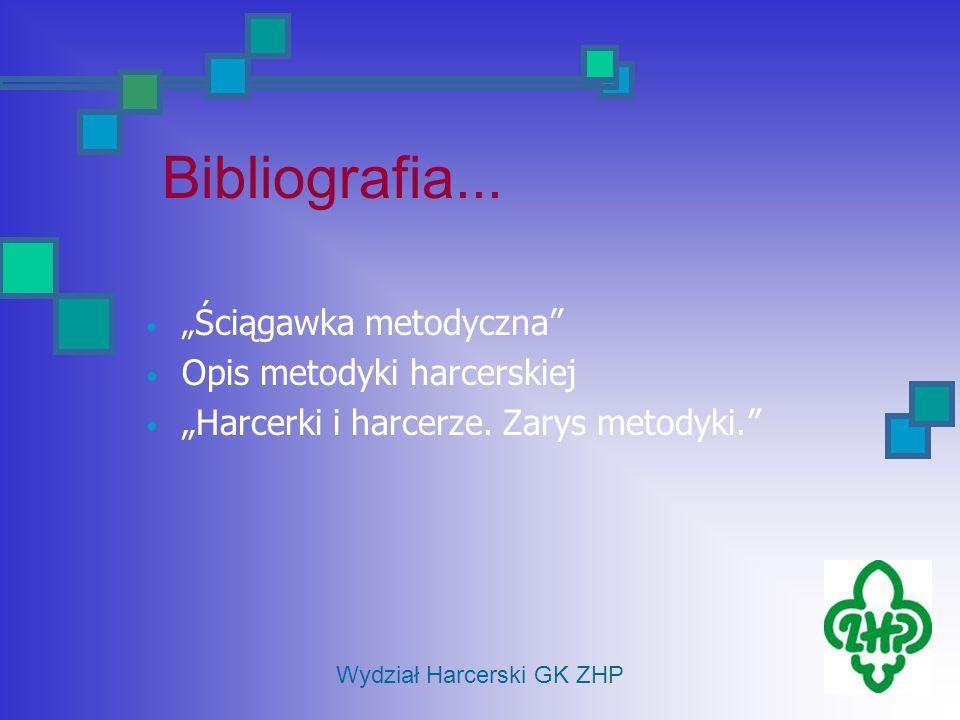 Ściągawka metodyczna Opis metodyki harcerskiej Harcerki i harcerze. Zarys metodyki. Bibliografia... Wydział Harcerski GK ZHP