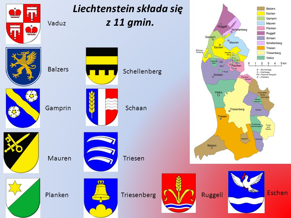 Liechtenstein, Księstwo Liechtenstein, Fürstentum Liechtenstein - niewielkie państwo położone w środkowej Europie, w Alpach, na wschodnim brzegu Renu.
