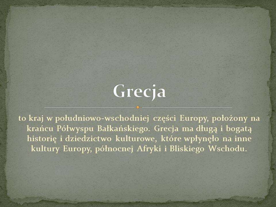 to kraj w południowo-wschodniej części Europy, położony na krańcu Półwyspu Bałkańskiego. Grecja ma długą i bogatą historię i dziedzictwo kulturowe, kt