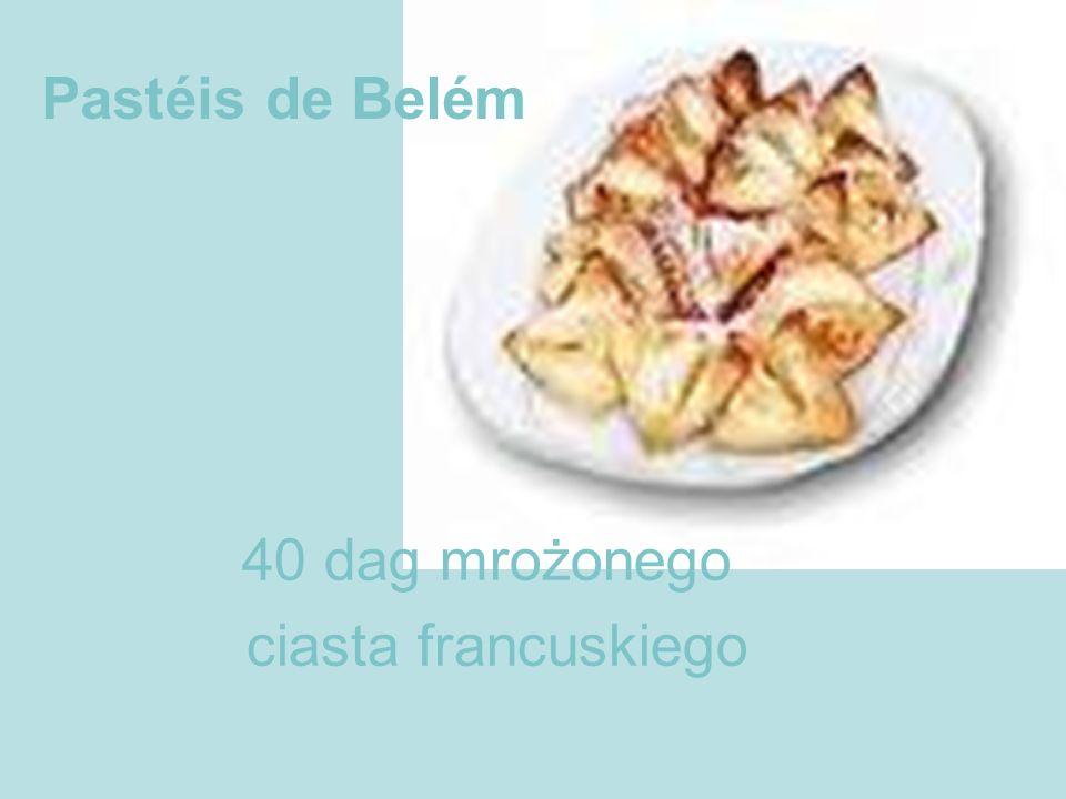 Pastéis de Belém 40 dag mrożonego ciasta francuskiego