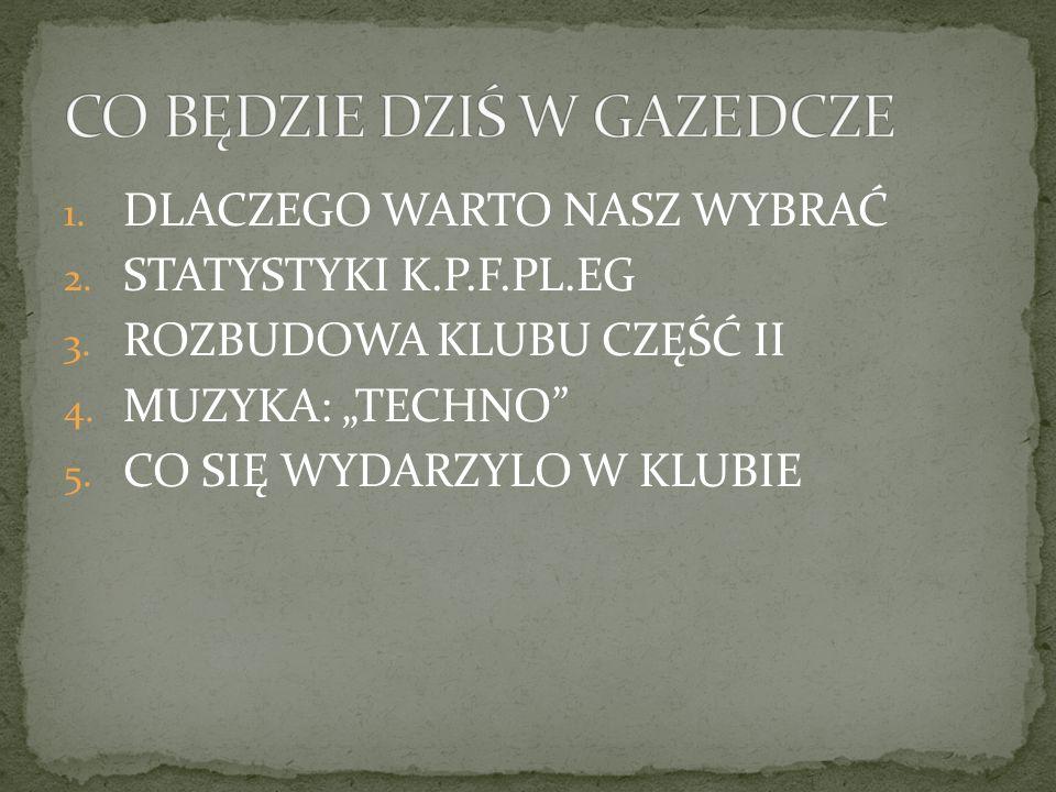 1. DLACZEGO WARTO NASZ WYBRAĆ 2. STATYSTYKI K.P.F.PL.EG 3.