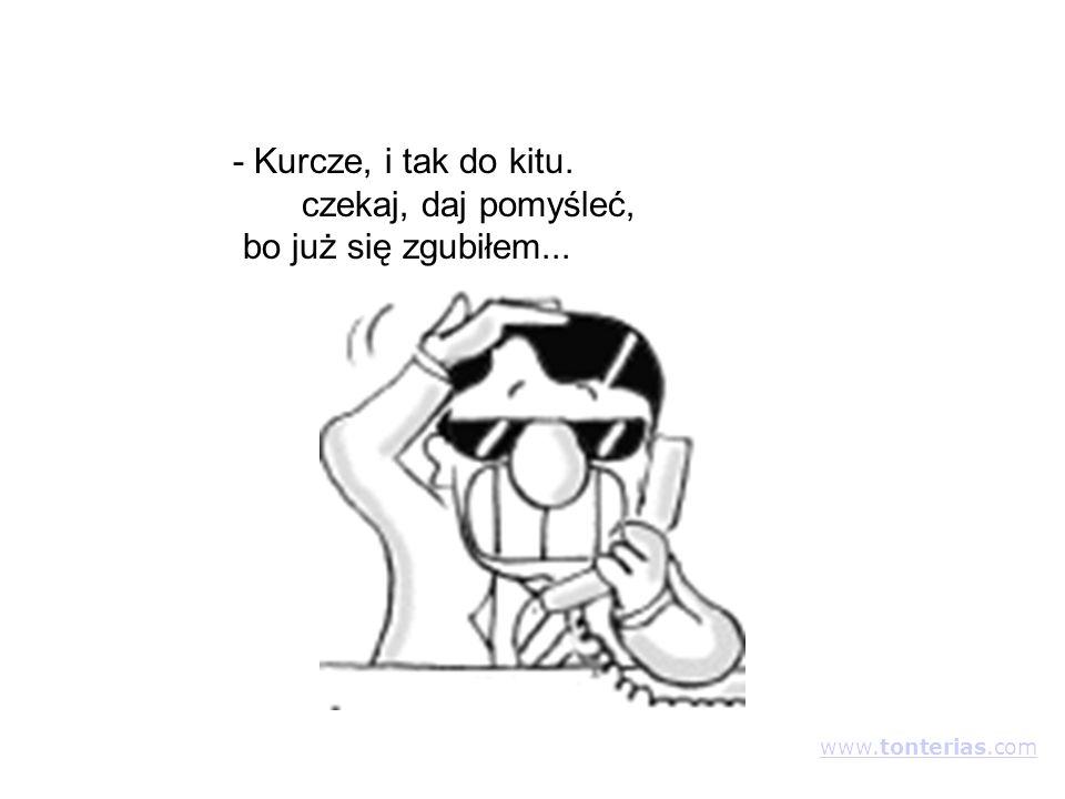 - Kurcze, i tak do kitu. czekaj, daj pomyśleć, bo już się zgubiłem... www.tonterias.com