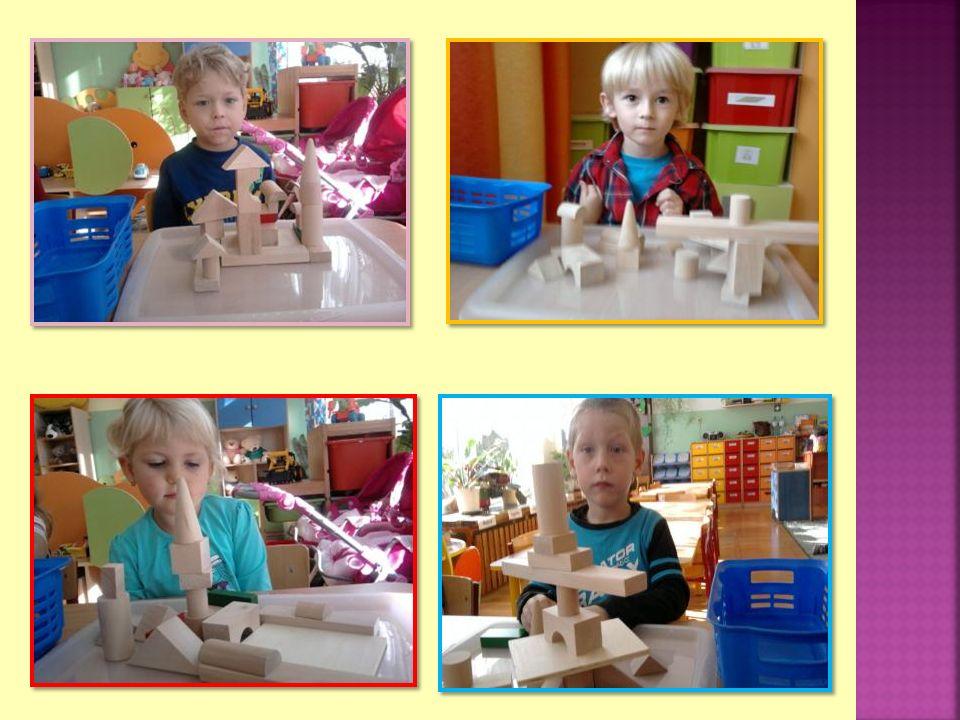 Dzieci prawidłowo posługiwały się nazwami klocków, zrozumiały koncepcję długości.