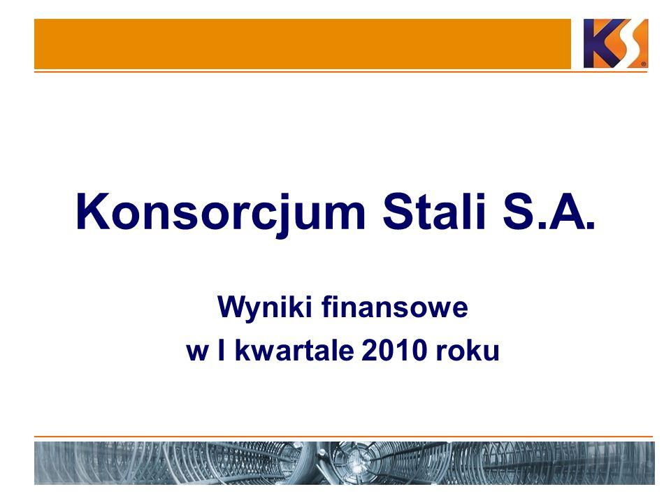 Konsorcjum Stali S.A. Wyniki finansowe w I kwartale 2010 roku