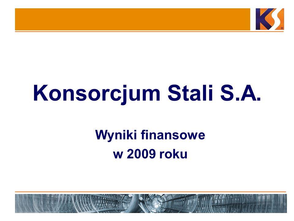 Konsorcjum Stali S.A. Wyniki finansowe w 2009 roku