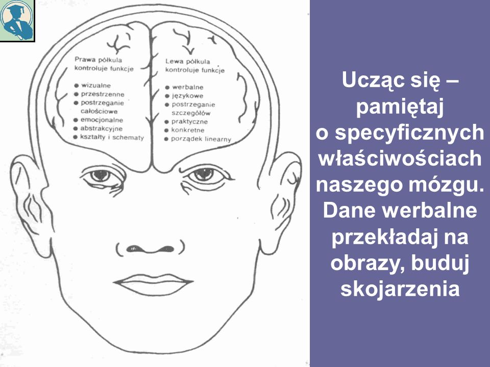 Ucząc się – pamiętaj o specyficznych właściwościach naszego mózgu. Dane werbalne przekładaj na obrazy, buduj skojarzenia