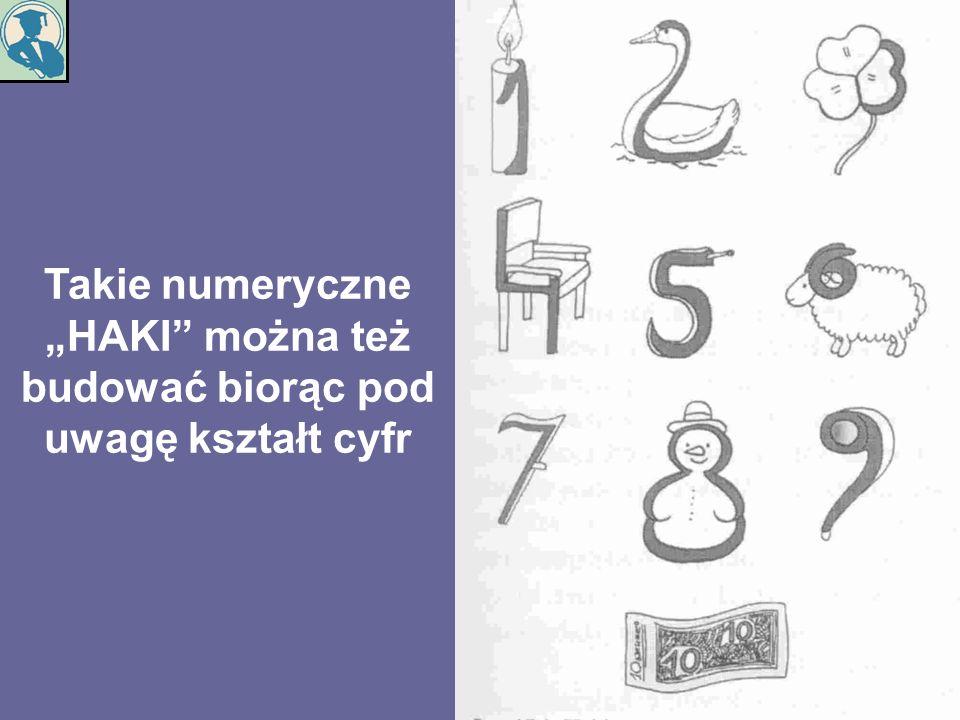 Takie numeryczne HAKI można też budować biorąc pod uwagę kształt cyfr