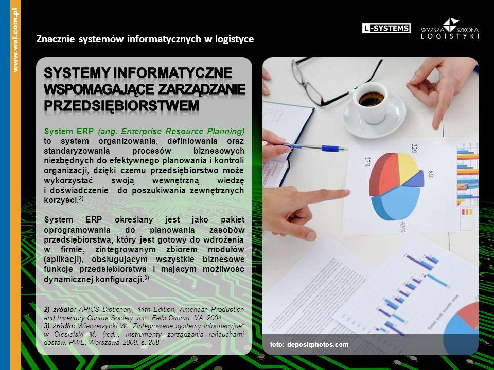foto: depositphotos.com Znacznie systemów informatycznych w logistyce