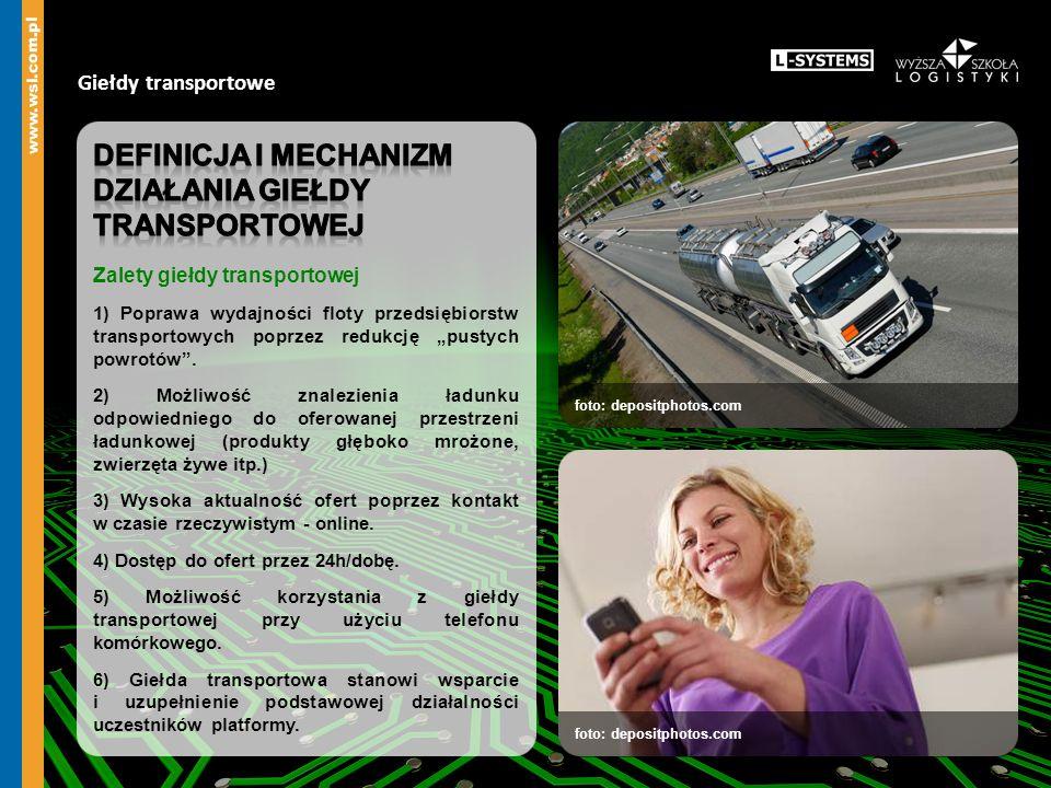 Giełdy transportowe foto: depositphotos.com