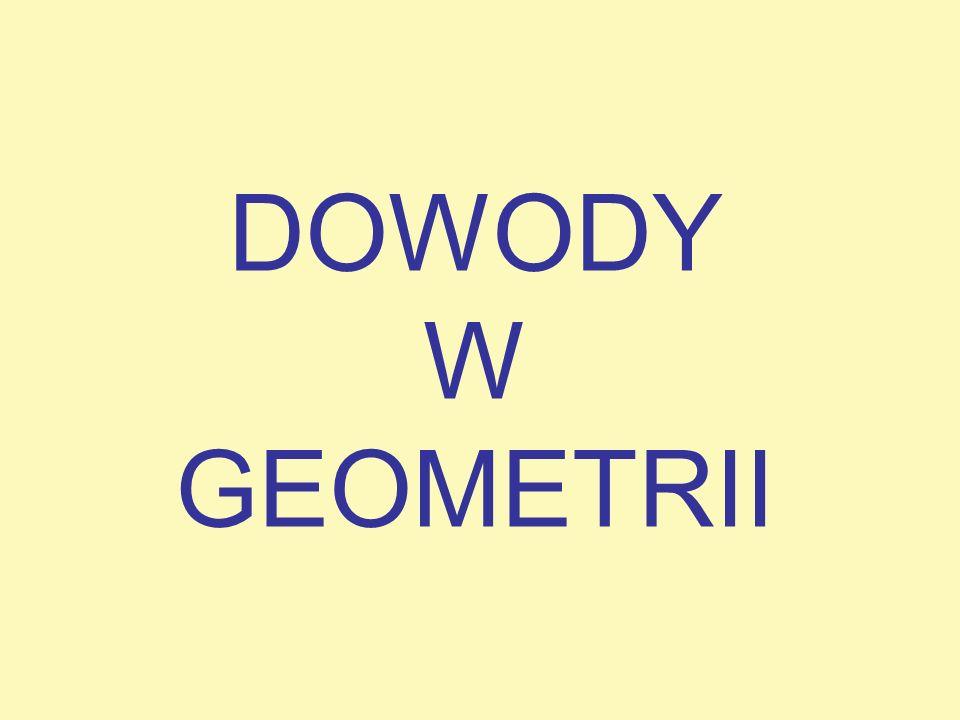 DOWODY W GEOMETRII