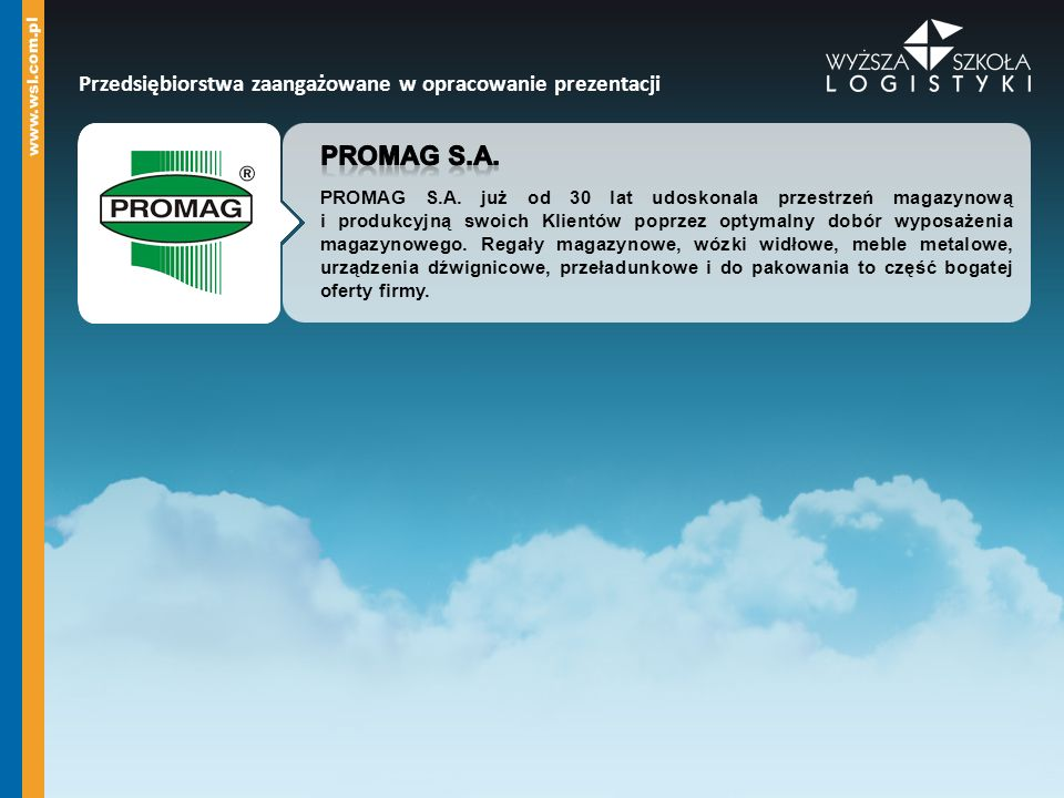 Dokumentacja magazynowa foto: PROMAG S.A.
