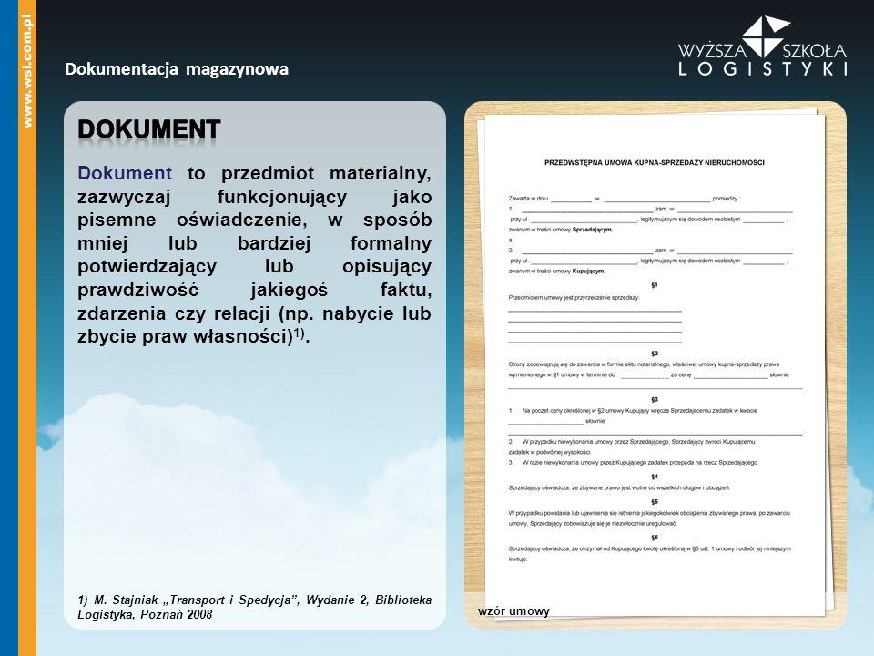 Dokumentacja magazynowa wzór umowy
