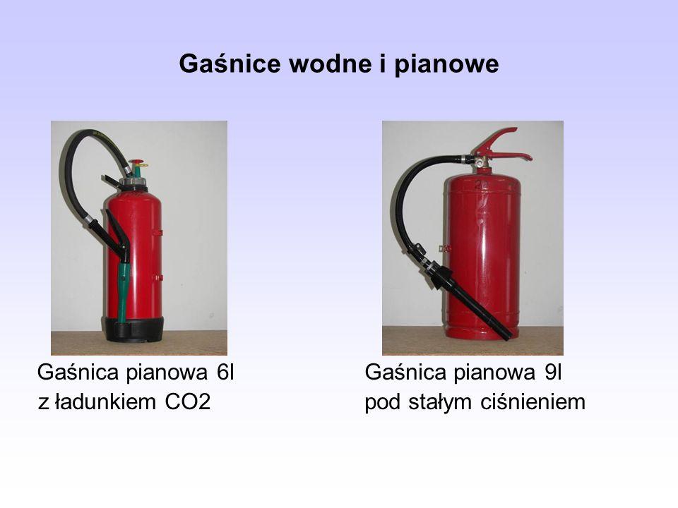 Gaśnice wodne i pianowe Gaśnica pianowa 6lGaśnica pianowa 9l z ładunkiem CO2 pod stałym ciśnieniem