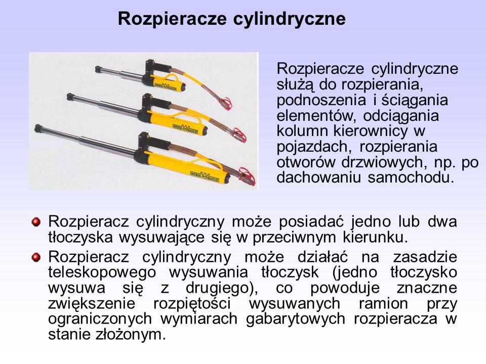 Rozpieracze cylindryczne Rozpieracz cylindryczny może posiadać jedno lub dwa tłoczyska wysuwające się w przeciwnym kierunku. Rozpieracz cylindryczny m