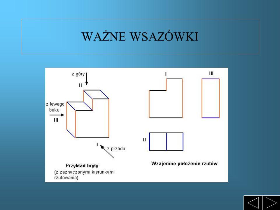 ĆWICZENIA W RZUTOWANIU -Narysuj rzuty aksonometryczne następujących brył