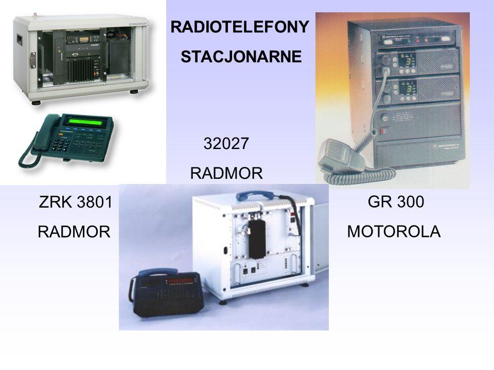 RADIOTELEFONY STACJONARNE ZRK 3801 RADMOR 32027 RADMOR GR 300 MOTOROLA