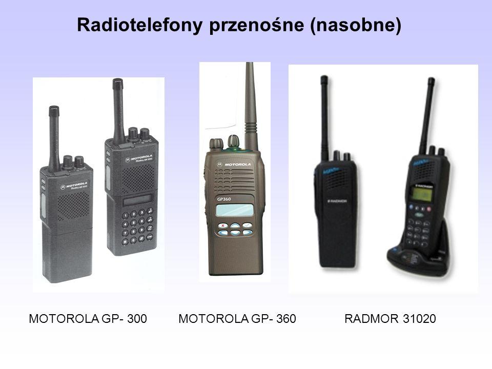 MOTOROLA GP- 300 MOTOROLA GP- 360 RADMOR 31020 Radiotelefony przenośne (nasobne)