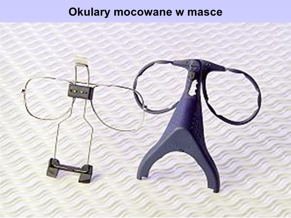 Okulary mocowane w masce