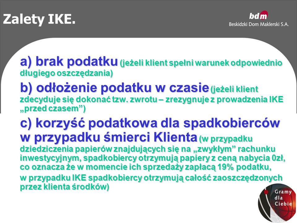 Zalety IKE.
