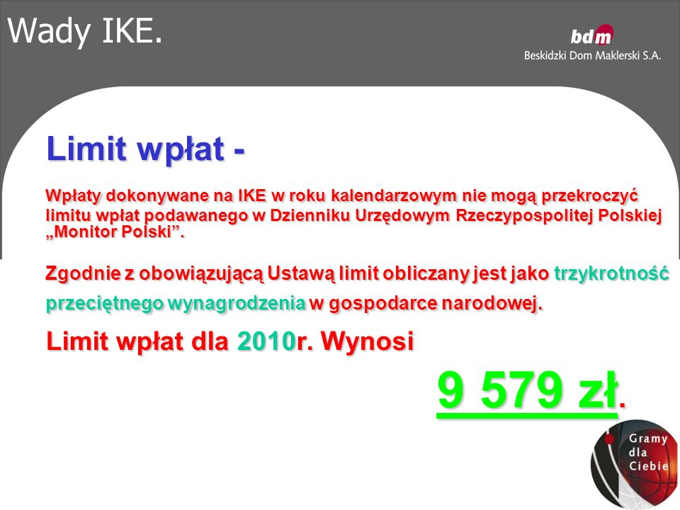 Wady IKE.