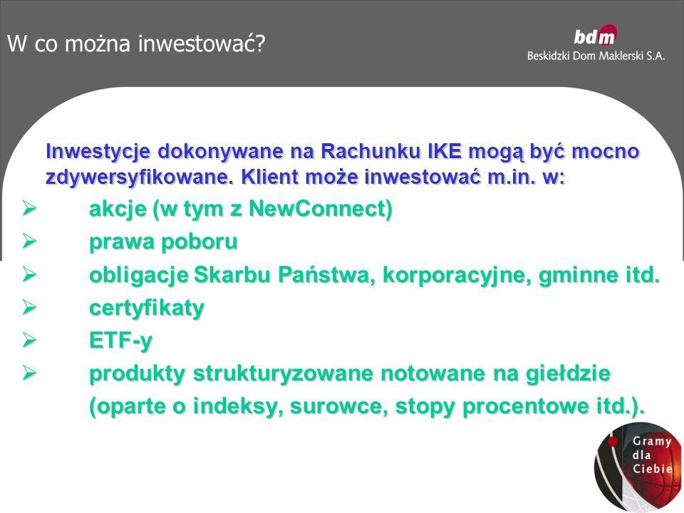 W co można inwestować. Inwestycje dokonywane na Rachunku IKE mogą być mocno zdywersyfikowane.