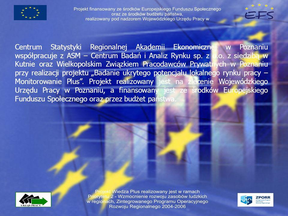 Centrum Statystyki Regionalnej Akademii Ekonomicznej w Poznaniu współpracuje z ASM – Centrum Badań i Analiz Rynku sp.