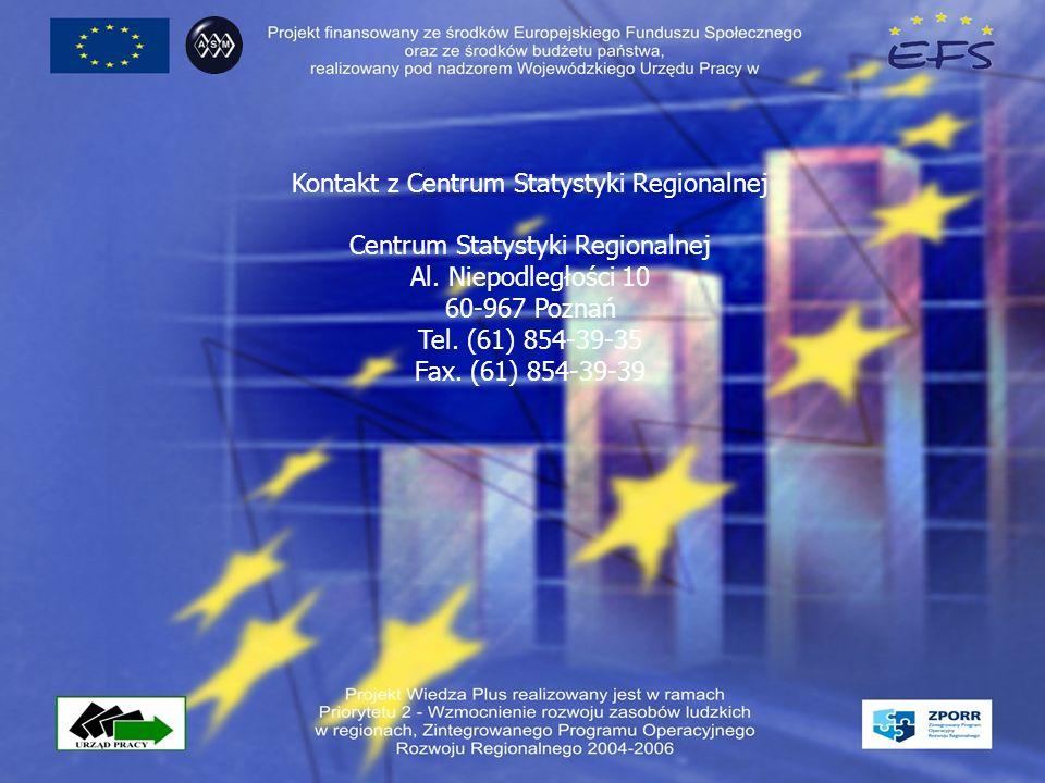 Kontakt z Centrum Statystyki Regionalnej Centrum Statystyki Regionalnej Al.