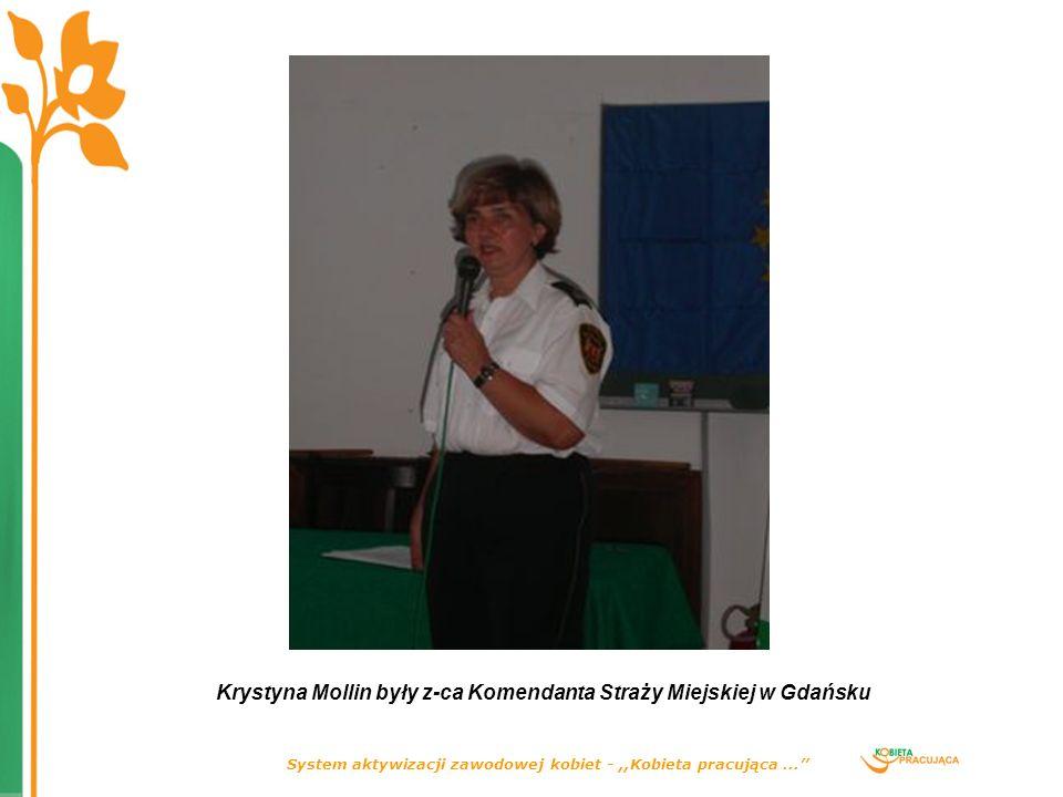 System aktywizacji zawodowej kobiet -,,Kobieta pracująca... Krystyna Mollin były z-ca Komendanta Straży Miejskiej w Gdańsku