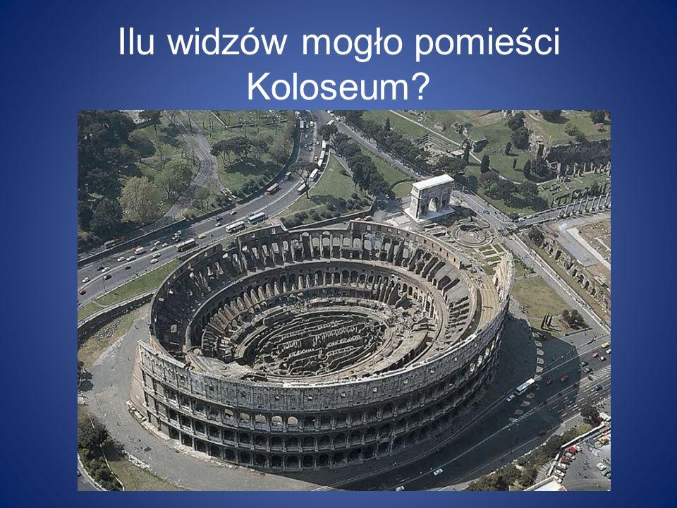 Ilu widzów mogło pomieści Koloseum?