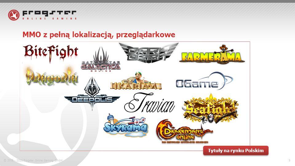 © 2008 - 2011 Frogster Online Gaming GmbH.10 Analiza postrzegania i znaczenia polskiego rynku gier MMO dla europejskich wydawców