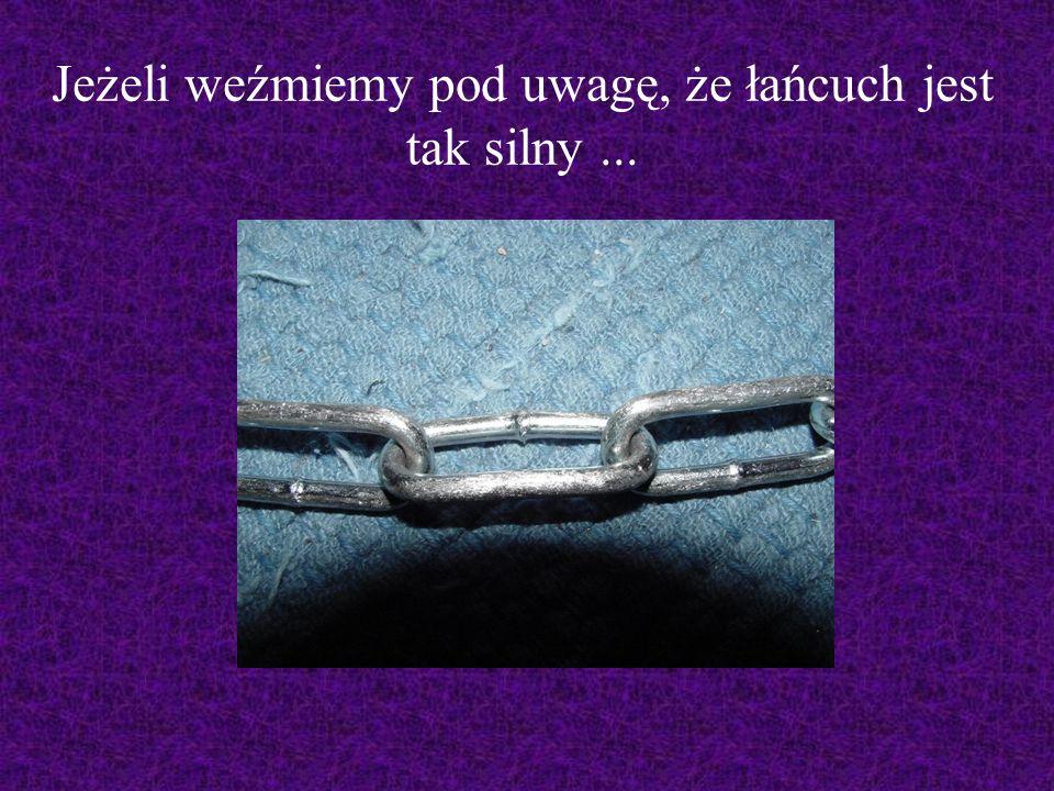 Jeżeli weźmiemy pod uwagę, że łańcuch jest tak silny...