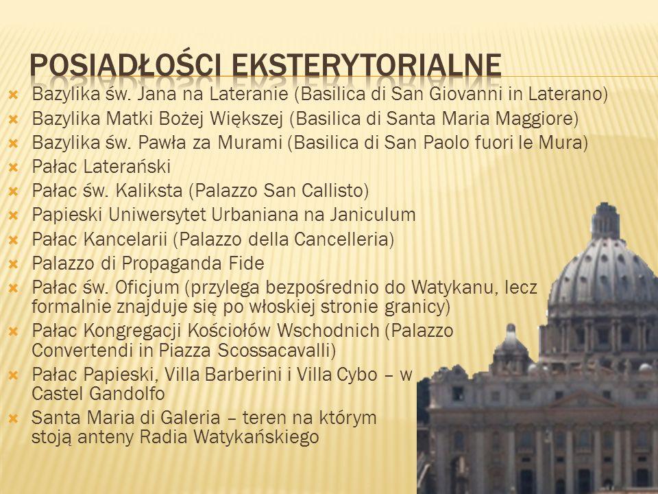 Bazylika św. Jana na Lateranie (Basilica di San Giovanni in Laterano) Bazylika Matki Bożej Większej (Basilica di Santa Maria Maggiore) Bazylika św. Pa
