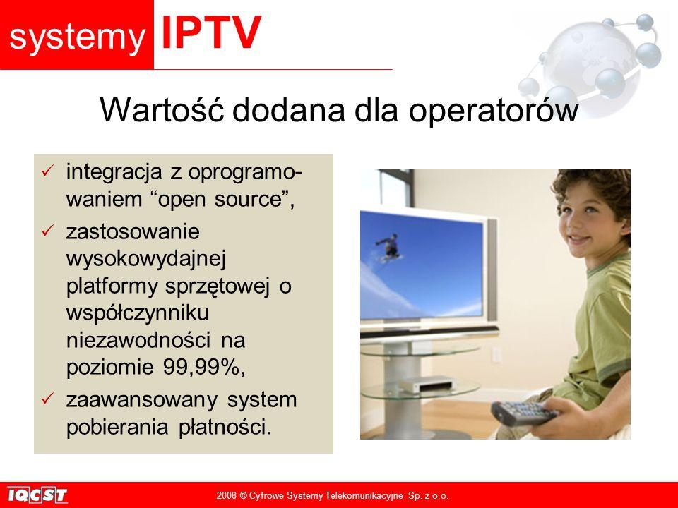 systemy IPTV 2008 © Cyfrowe Systemy Telekomunikacyjne Sp.
