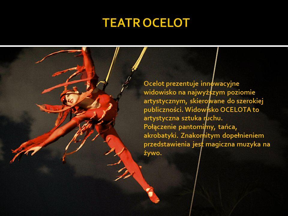 Ocelot prezentuje innowacyjne widowisko na najwyższym poziomie artystycznym, skierowane do szerokiej publiczności.