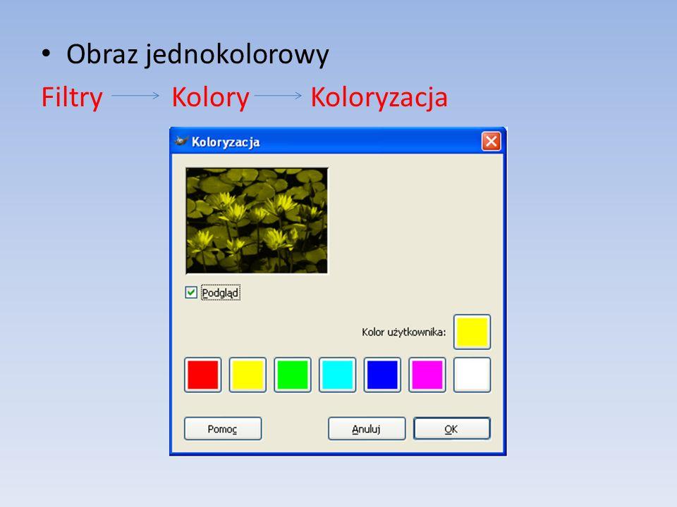 Obraz jednokolorowy Filtry Kolory Koloryzacja