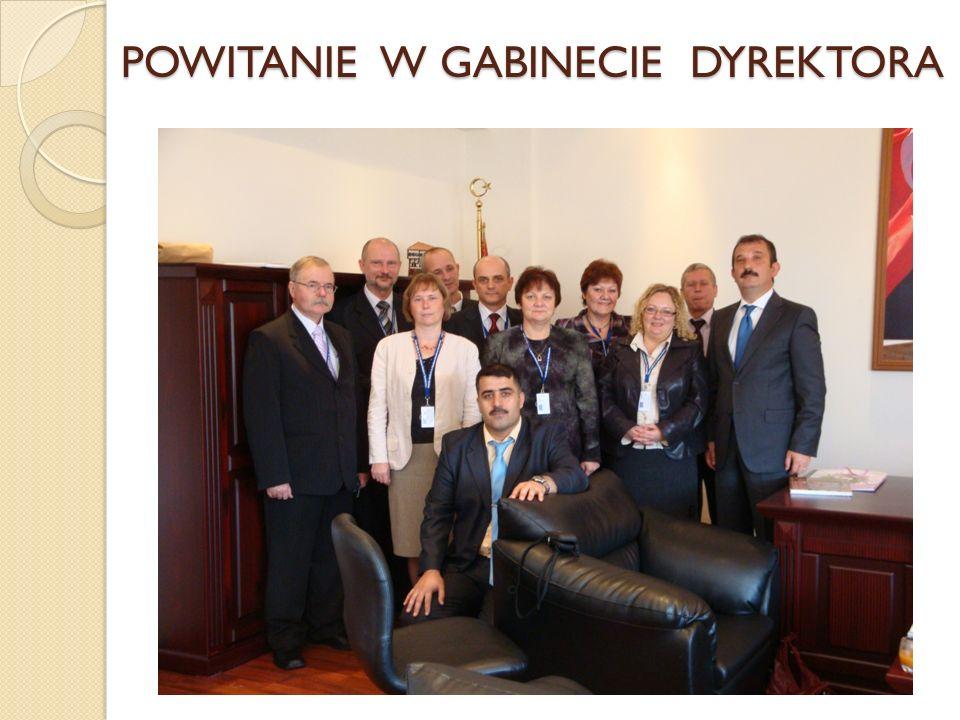 POWITANIE W GABINECIE DYREKTORA