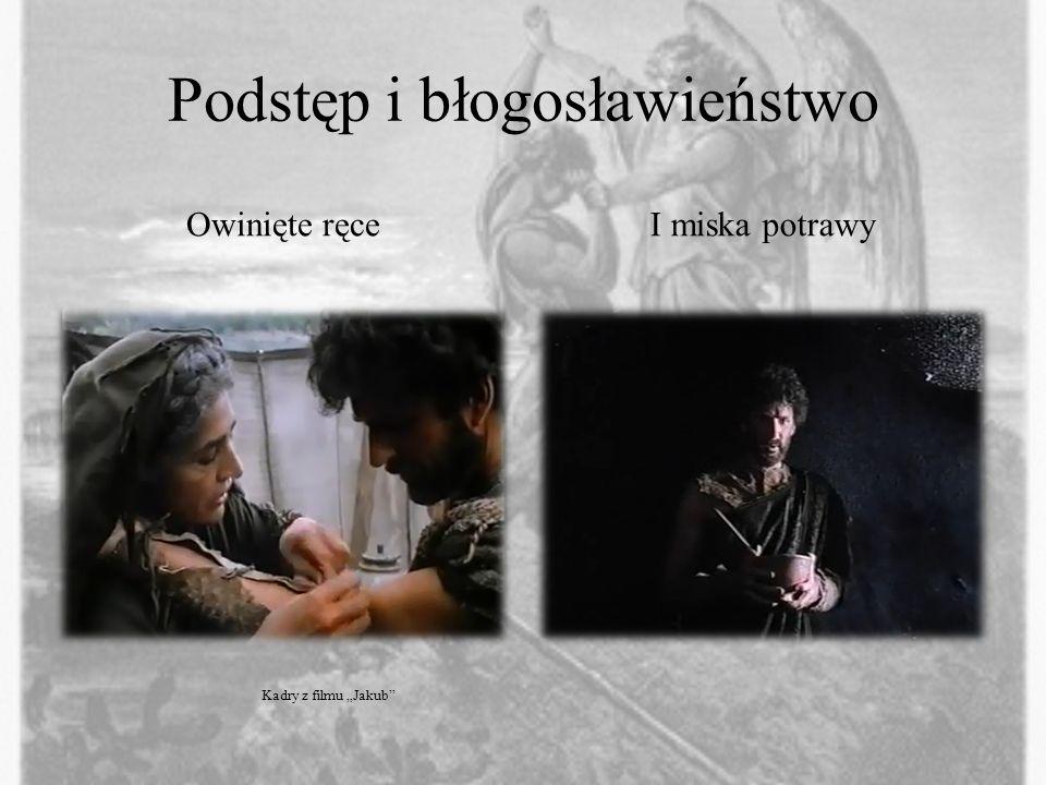 Podstęp i błogosławieństwo Owinięte ręceI miska potrawy Kadry z filmu Jakub