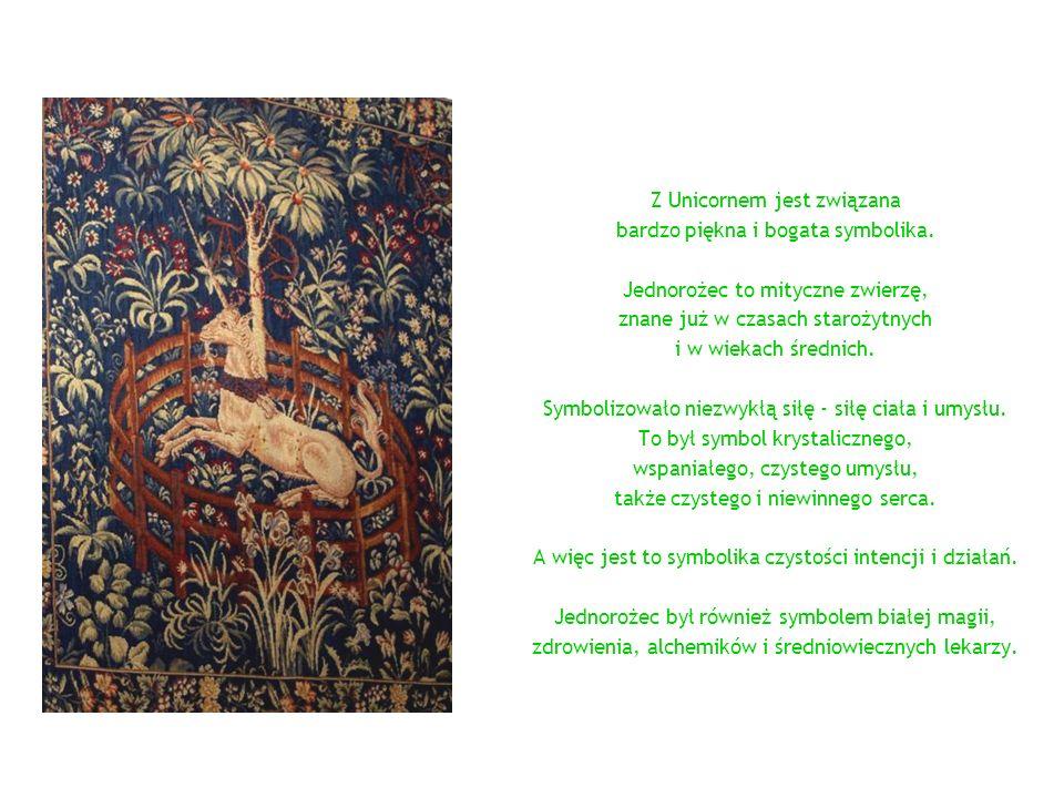 Z Unicornem jest związana bardzo piękna i bogata symbolika. Jednorożec to mityczne zwierzę, znane już w czasach starożytnych i w wiekach średnich. Sym