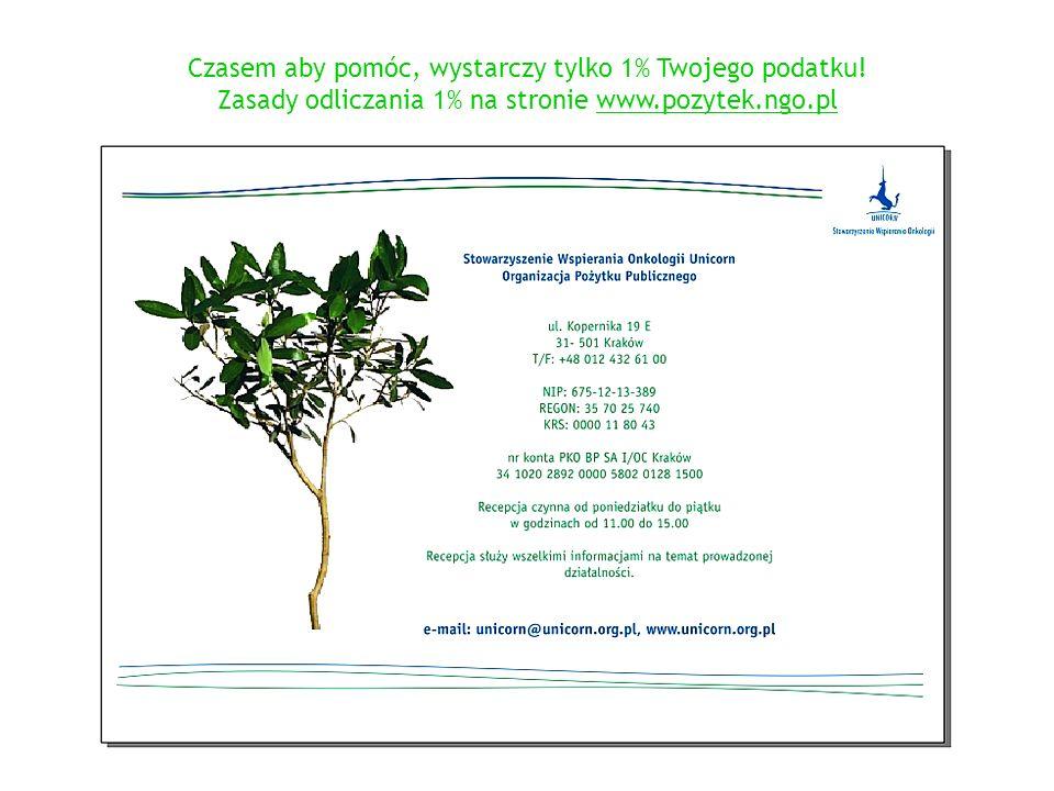 Czasem aby pomóc, wystarczy tylko 1% Twojego podatku! Zasady odliczania 1% na stronie www.pozytek.ngo.pl