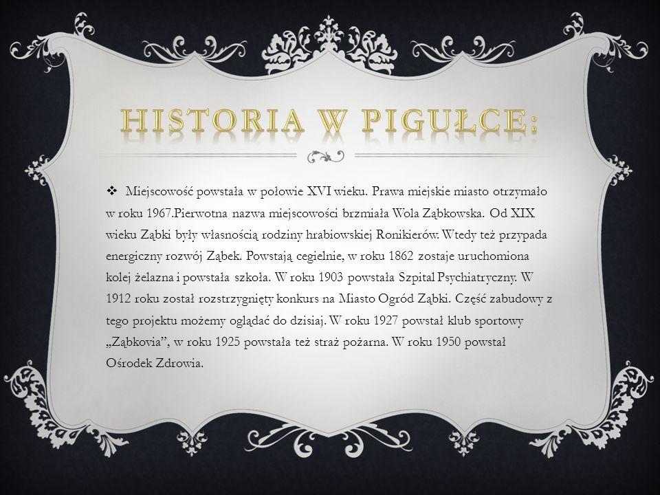 Miejscowość powstała w połowie XVI wieku. Prawa miejskie miasto otrzymało w roku 1967.Pierwotna nazwa miejscowości brzmiała Wola Ząbkowska. Od XIX wie