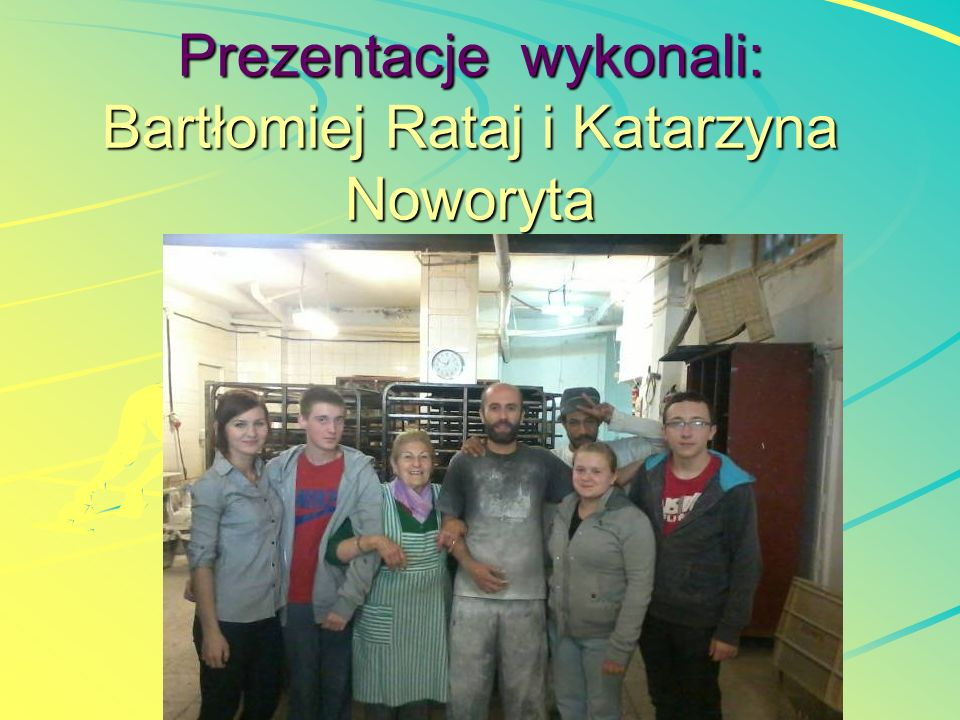 Prezentacje wykonali: Bartłomiej Rataj i Katarzyna Noworyta