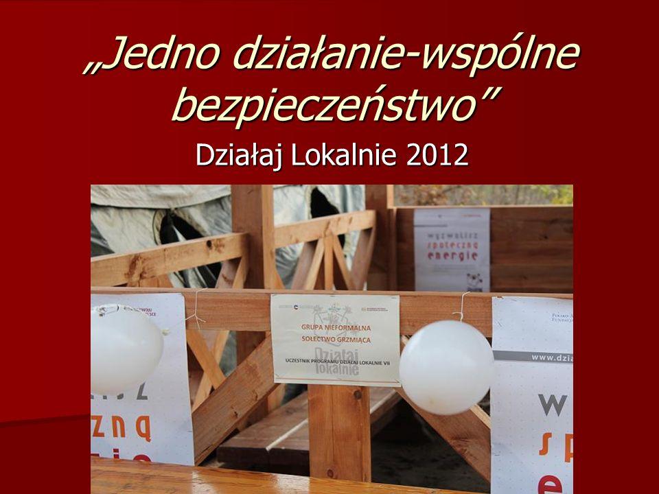 Jedno działanie-wspólne bezpieczeństwo Działaj Lokalnie 2012